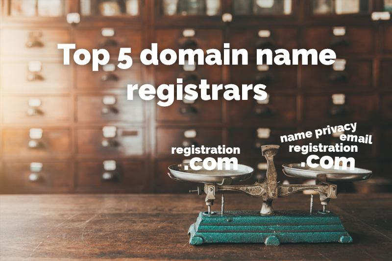 Top 5 domain name registrars