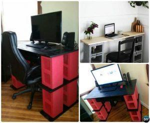Cinderblock desks